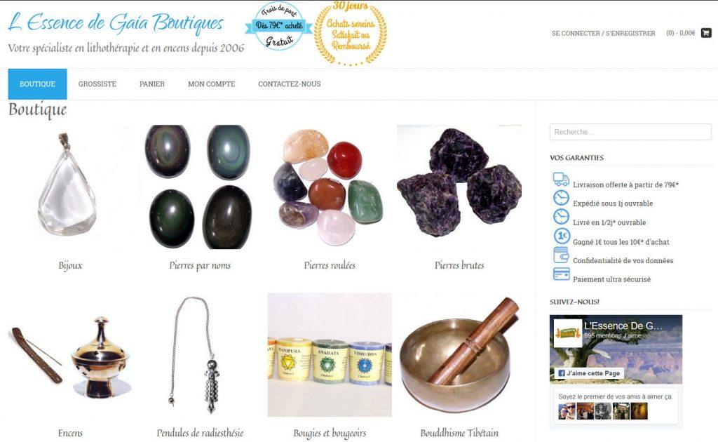 boutique pierres et bijoux de lithothérapie